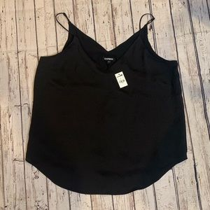 NWT Black express tank top with adjustable straps